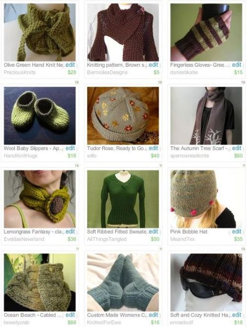cozy knitted treasury