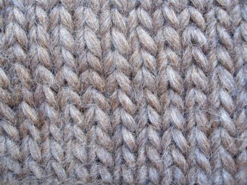 Knitting Bias Stockinette : Biasing