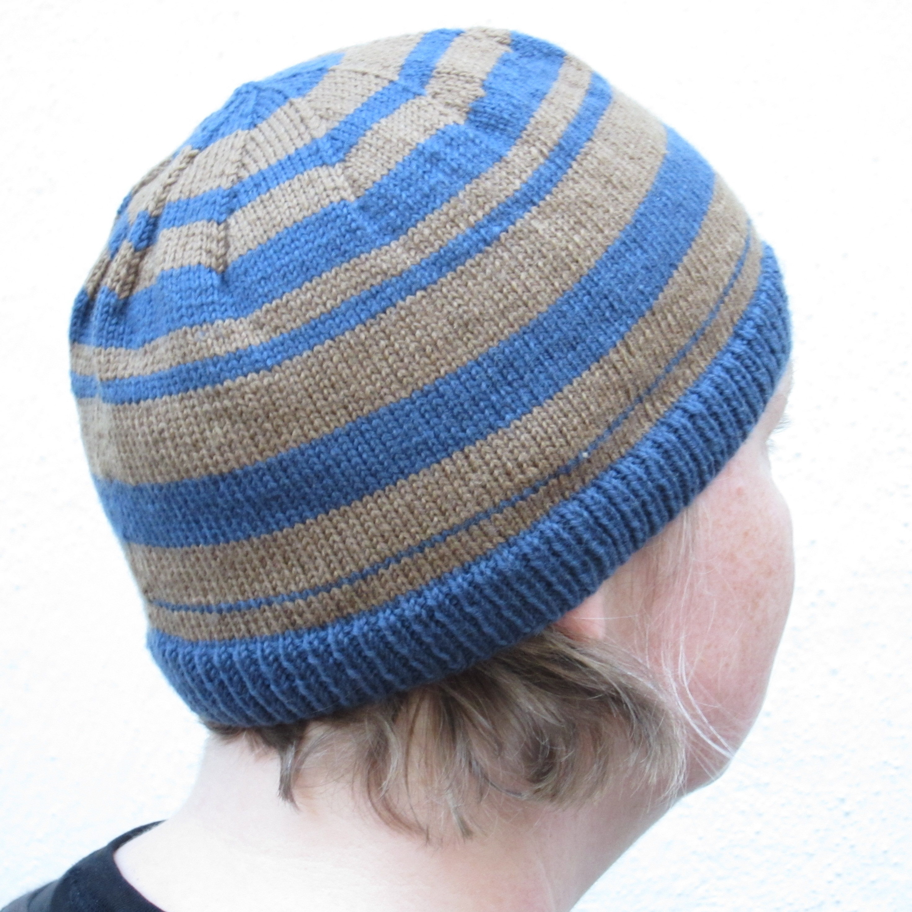 Free Knitting Pattern Beanie : Random Factor Hat   Quick Free Knitting Pattern