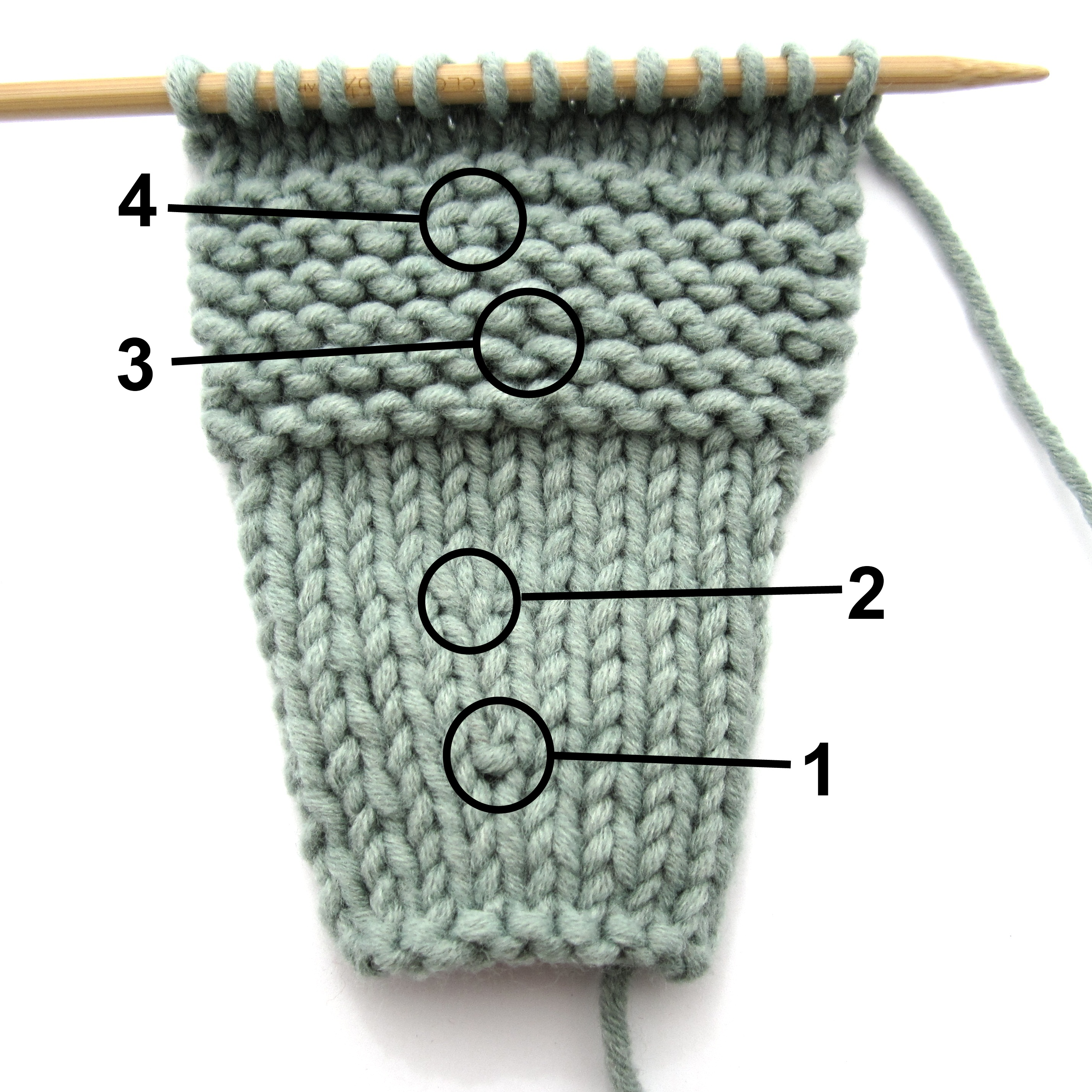 How To Increase Number Of Stitches Knitting : KFB. The Forgotten Increase