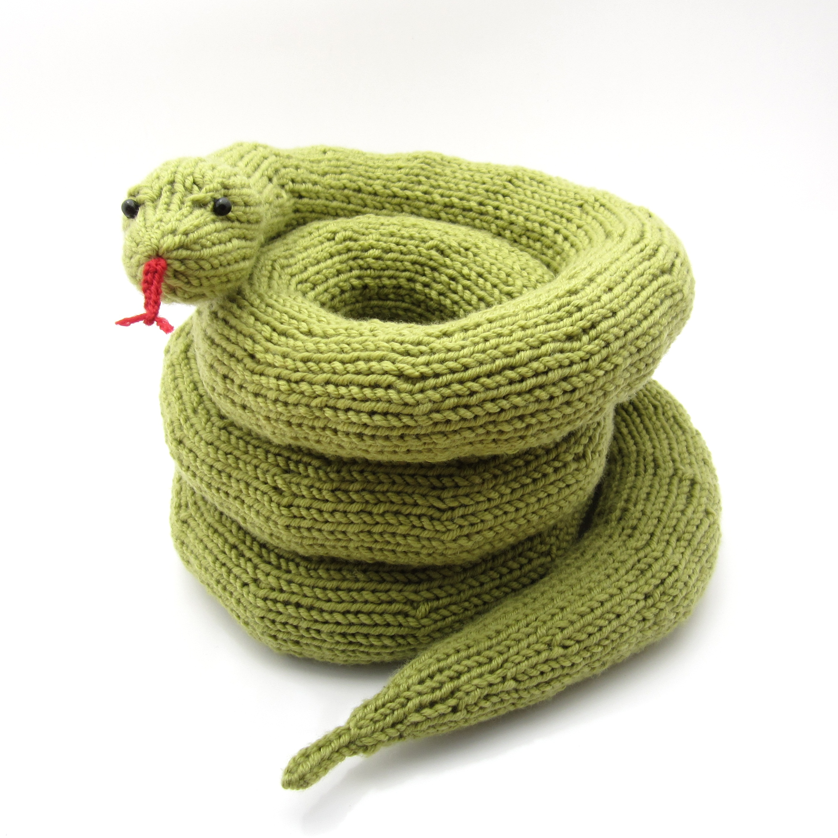 Knitting Pattern Help : knitted snake