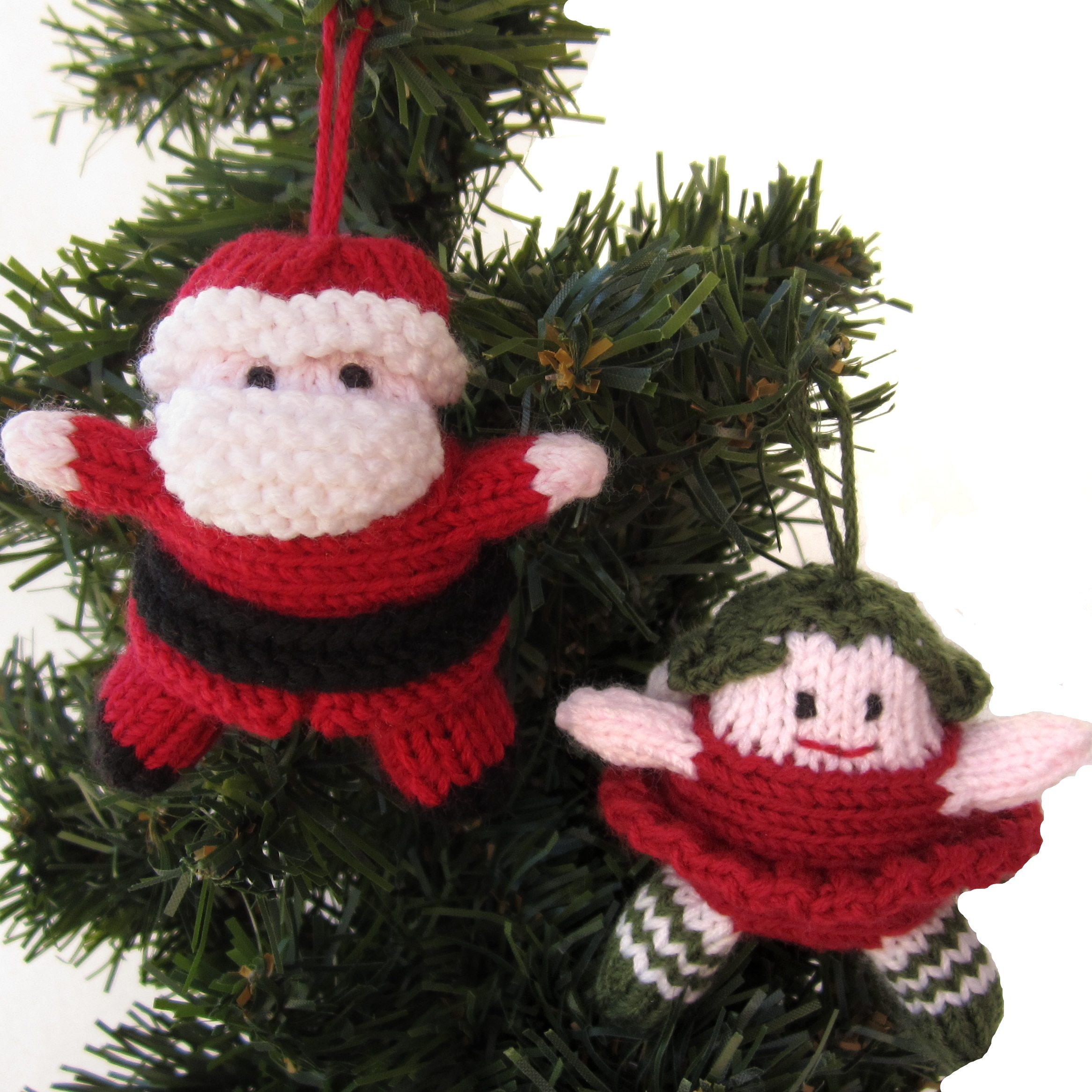 Knitted Father Christmas Pattern Free : Tiny Santa and Christmas Fairy Hints and Tips