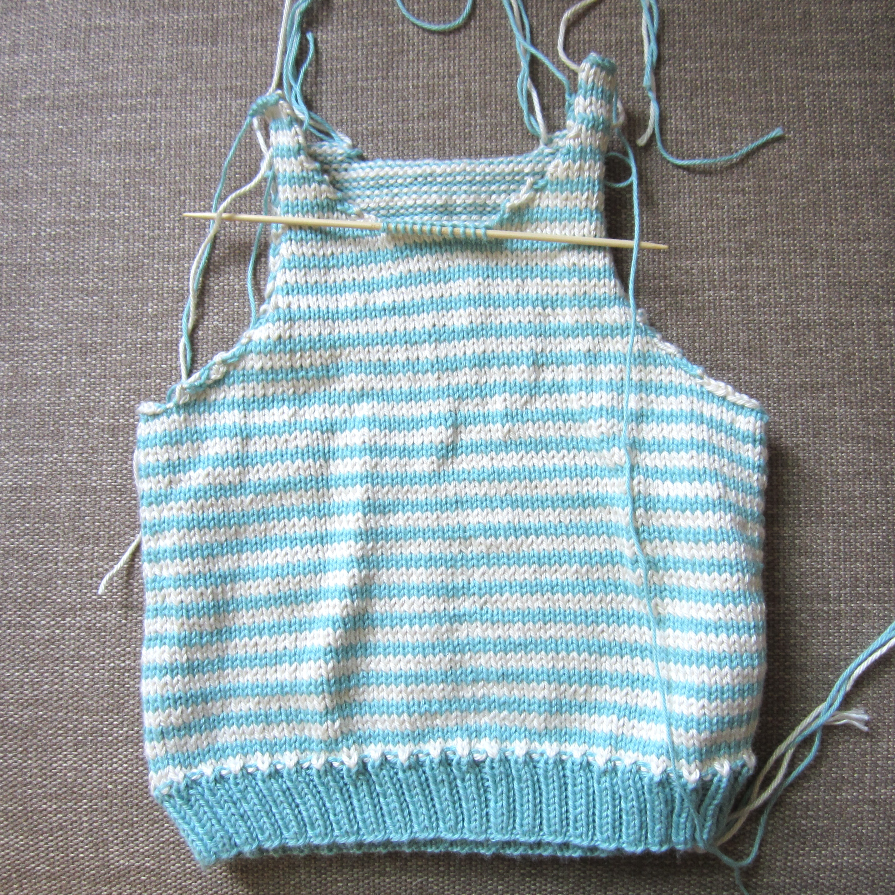Top baby pattern picks and finally an unfinished sleeveless vest from a pattern called viggo by drops design its knitted in fingering weight yarn and it has taken me a long bankloansurffo Gallery
