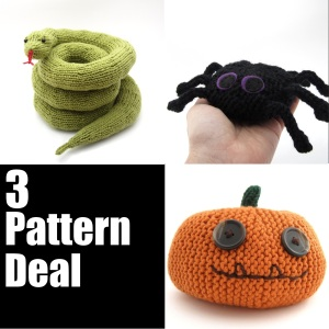 pumpkin, spider snake pattern deal 2013